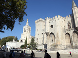 Exterior of Palais Des Papes, UNESCO World Heritage Site, and Church, Avignon, Vaucluse, France Photographic Print by David Lomax