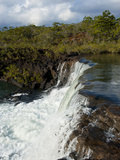 The Waterfalls Chutes de La Madeleine, South Coast of Grande Terre, New Caledonia, South Pacific Photographic Print by Michael Runkel