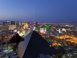 Elevated View of Casinos on the Strip, Las Vegas, Nevada, United States of America, North America Photographic Print by Gavin Hellier