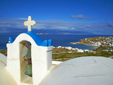 Church and Town, Stavros, Donoussa, Cyclades, Aegean, Greek Islands, Greece, Europe Photographic Print by  Tuul