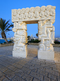 Sculpture of Fall of Jericho, Isaac's Sacrifice, Jacob's Dream, Hapisgah Gardens, Tel Aviv, Israel Photographic Print by Gavin Hellier