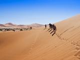 View of Dunes, Sossusvlei, Namib Desert, Namib Naukluft Park, Namibia, Africa Photographic Print by Nico Tondini