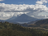Atitlan Lake and Volcano, Guatemala, Central America Photographic Print by Antonio Busiello