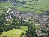 Aerial View of Arundel Castle, Cricket Ground and Cathedral, Arundel, West Sussex, England, UK Photographic Print by Peter Barritt