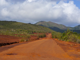 Red Soil on the South Coast of Grande Terre, New Caledonia, Melanesia, South Pacific, Pacific Photographic Print by Michael Runkel