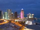 New Skyline of the West Bay Central Financial District, Doha, Qatar, Middle East Photographic Print by Gavin Hellier