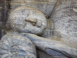 Reclining Buddha Statue, Gal Vihara, Polonnaruwa, UNESCO World Heritage Site, Sri Lanka Photographic Print by Ian Trower