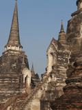 Wat Phra Sri Sanphet, Old Buddhist Temple, Ayutthaya, UNESCO World Heritage Site, Thailand Photographic Print by Antonio Busiello