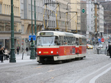 Tramway, Prague Old Town, Prague, Czech Repubic, Europe Photographic Print by  Godong