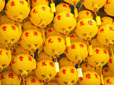 Bright Yellow Chinese Lanterns at Kek Lok Si Temple, Penang, Malaysia, Southeast Asia, Asia Photographic Print by Matthew Williams-Ellis