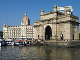 Waterfront with Taj Mahal Palace and Tower Hotel and Gateway of India, Mumbai (Bombay), India Photographic Print by Stuart Black