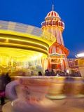 Helter Skelter, Goose Fair, Nottingham, Nottinghamshire, England, United Kingdom, Europe Photographic Print by Frank Fell