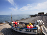 Fishing Boat on the Shingle Beach at Sheringham, Norfolk, England, United Kingdom, Europe Photographic Print by Mark Sunderland