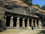 Cave Temple on Elephanta Island, UNESCO World Heritage Site, Mumbai (Bombay), Maharashtra, India Photographic Print by Stuart Black