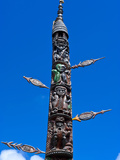 Traditional Wood Carving in Noumea, New Caledonia, Melanesia, South Pacific, Pacific Photographic Print by Michael Runkel