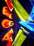 Neon Vegas Sign at Night, Downtown, Freemont East Area, Las Vegas, Nevada, USA, North America Photographic Print by Gavin Hellier