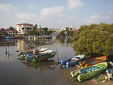Boats in Negombo Lagoon, Negombo, Western Province, Sri Lanka, Asia Photographic Print by Ian Trower