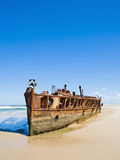 Maheno Shipwreck, Fraser Island, UNESCO World Heritage Site, Queensland, Australia, Pacific Photographic Print by Matthew Williams-Ellis