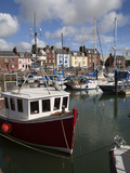 Fishing Boats and Yachts in the Harbour at Arbroath, Angus, Scotland, United Kingdom, Europe Photographic Print by Mark Sunderland