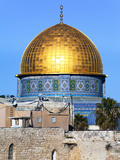 Dome of Rock Above Western Wall Plaza, Old City, UNESCO World Heritage Site, Jerusalem, Israel Photographic Print by Gavin Hellier