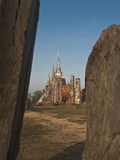 Wat Phra Sri Sanphet, Old Buddhist Temple, Ayutthaya, UNESCO World Heritage Site, Thailand Photographic Print by Antonio Busiello