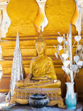 Bright Gold Buddha Statue at Pha That Luang, a Buddhist Templ, Vientiane, Laos, Indochina Photographic Print by Matthew Williams-Ellis