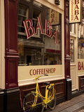 Bicycle Outside Coffee Shop, Amsterdam, Holland, Europe Photographic Print by Frank Fell