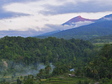 View of Mount Rinjani from Senaru, Lombok, Indonesia, Southeast Asia, Asia Photographic Print by Jochen Schlenker