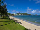 Waterfront and Beach in Noumea, New Caledonia, Melanesia, South Pacific, Pacific Photographic Print by Michael Runkel