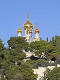 The Russian Church of Mary Magdalene on the Mount of Olives, Jerusalem, Israel, Middle East Photographic Print by Gavin Hellier