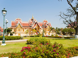 Beautifully Decorated Building at Pha That Luang, Vientiane, Laos, Indochina, Southeast Asia, Asia Photographic Print by Matthew Williams-Ellis