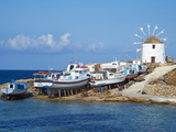 Windmill, Hora, Chora, Koufonissia, Cyclades, Aegean, Greek Islands, Greece, Europe Photographic Print by  Tuul