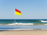 Swimming Flag for Satefy at Surfers Paradise Beach, Gold Coast, Queensland, Australia, Pacific Photographic Print by Matthew Williams-Ellis