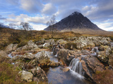Buachaille Etive Mor and the River Coupall, Glen Etive, Rannoch Moor, Western Highlands, Scotland Photographic Print by Chris Hepburn