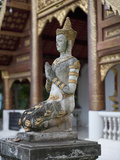 Buddha Statue in Wat Phra Singh, Chiang Mai, Thailand, Southeast Asia, Asia Photographic Print by Antonio Busiello