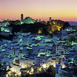 White Andalucian Village at Dusk, Casares, Andalucia, Spain, Europe Photographic Print by Stuart Black