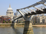 Millennium Bridge and St. Paul's Cathedral, London, England, United Kingdom, Europe Photographic Print by Amanda Hall