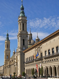 Town Hall and Nuestra Senora Des Pilar Basilica, Saragossa (Zaragoza), Aragon, Spain, Europe Photographic Print by Guy Thouvenin