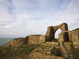 Castle Ruins, Grosnez, Jersey, Channel Islands, United Kingdom, Europe Photographic Print by Jean Brooks