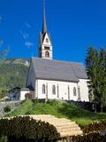 Church, Vigo di Fassa, Fassa Valley, Trento Province, Trentino-Alto Adige/South Tyrol, Italy Photographic Print by Frank Fell