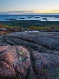 View from Cadillac Mountain, Acadia National Park, Mount Desert Island, Maine, New England, USA Photographic Print by Alan Copson