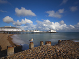 Pebble Beach and Pier, Eastbourne, East Sussex, England Photographic Print by Stuart Black