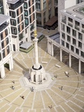 View of Paternoster Square and Column, from Golden Gallery, St. Paul's Cathedral, London, England Photographic Print by Peter Barritt