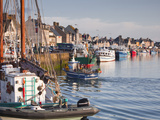 The Fleur de Lampaul and Small Boat in Harbour at Saint Vaast La Hougue, Cotentin Peninsula, France Photographic Print by Julian Elliott