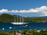 Star Clipper Sailing Cruse Ship, Le Bourg, Iles Des Saintes, Terre de Haut, French Caribbean Photographic Print by Sergio Pitamitz