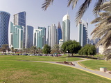 Modern Skyline of the West Bay Central Financial District, Doha, Qatar, Middle East Photographic Print by Gavin Hellier