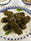 Dolma (Dolmades), Grape Leaves Stuffed with Meat and Rice, Turkey and Greece Photographic Print by Nico Tondini
