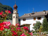 View to Church, Canazei, Val di Fassa, Trentino-Alto Adige, Italy, Europe Photographic Print by Frank Fell