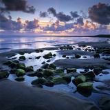 Sunset over Rock Pool, Strandhill, County Sligo, Connacht, Republic of Ireland, Europe Fotodruck von Stuart Black