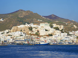 Hora (Chora) Main Town and Kastro, Naxos, Cyclades, Aegean, Greek Islands, Greece, Europe Photographic Print by  Tuul